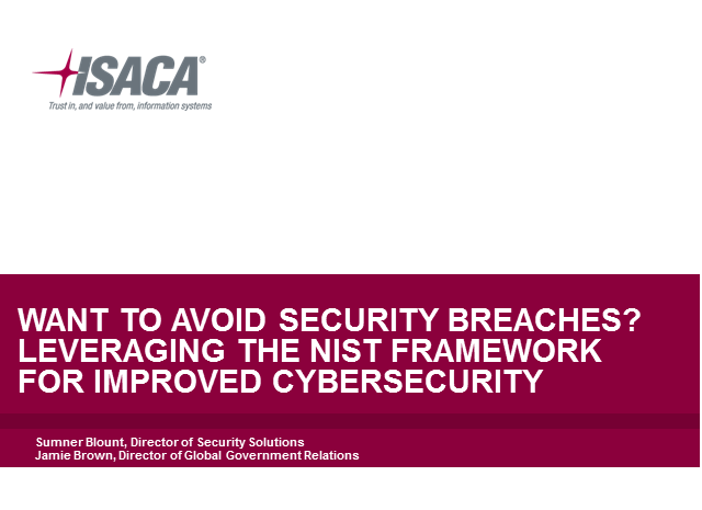 Want to Avoid Security Breaches? Leveraging the NIST Framework for Cybersecurity