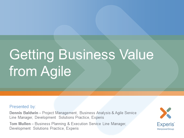 Getting Business Value from Agile