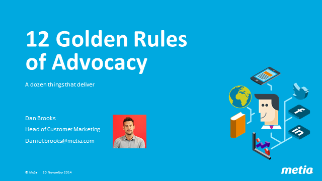 12 Golden Rules of Customer Advocacy