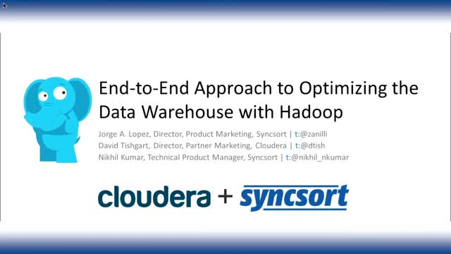 End-to-End Approach to Optimizing the Data Warehouse with Hadoop
