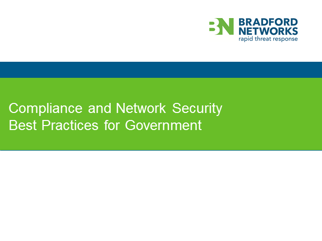 Compliance & Network Security Best Practices: State Agencies & Local Governments