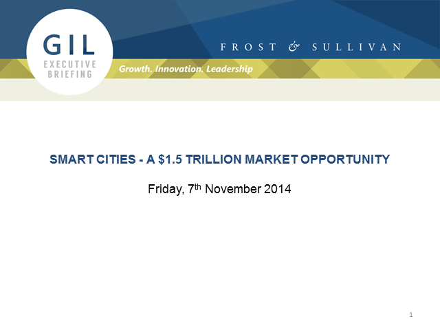 Smart Cities - A $1.5 Trillion Market Opportunity