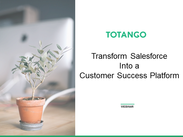 Totango Transforms Salesforce into a Customer Success Platform