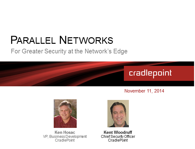 Parallel Networks for Greater Security at the Network's Edge