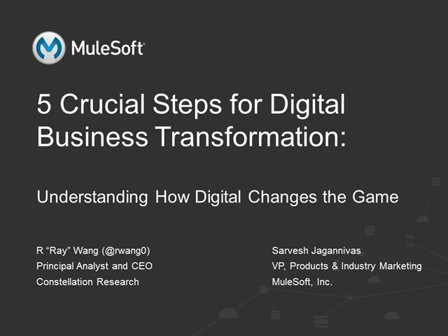 Top 5 Steps to Drive Your Digital Transformation Initiative