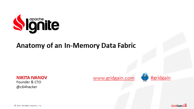 Anatomy of an In-Memory Data Fabric