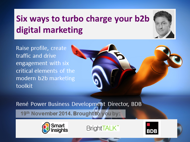 Six ways to turbocharge your B2B Marketing