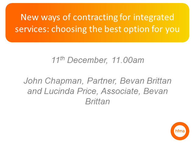 New ways of contracting for integrated services:choosing the best option for you