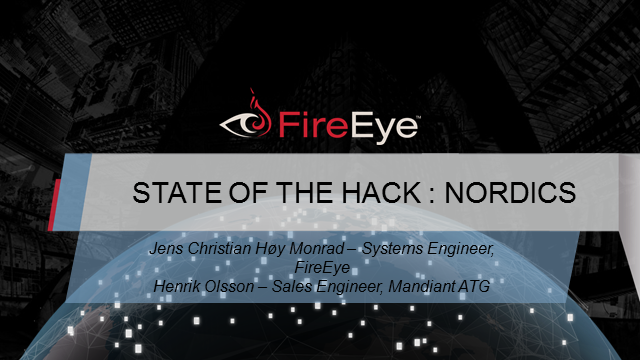 STATE OF THE HACK : NORDICS