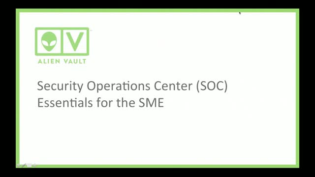 Security Operations Center (SOC) Essentials for the SME