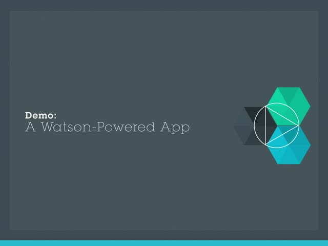 Demonstrating Watson Services on Bluemix: Watson Films App