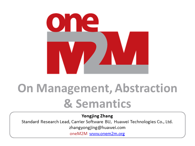 On Management, Abstraction & Semantics