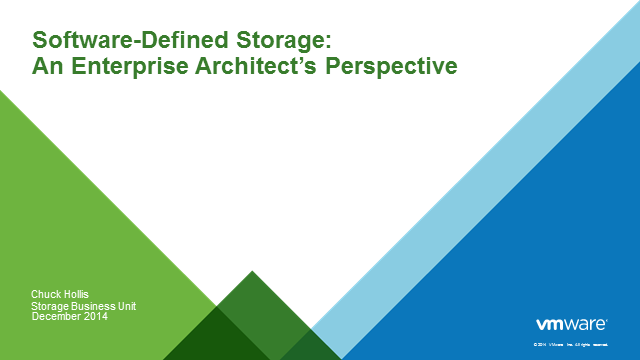 Software-Defined Storage: An Enterprise Architect's Perspective