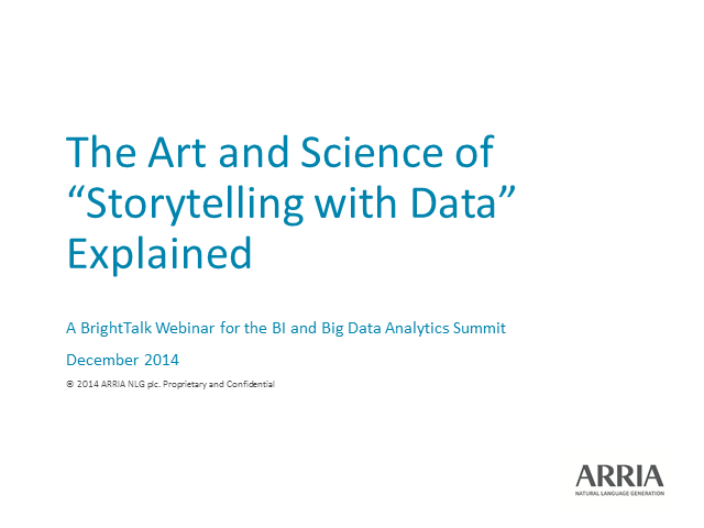 "The art and science of ""Storytelling with Data"" explained"