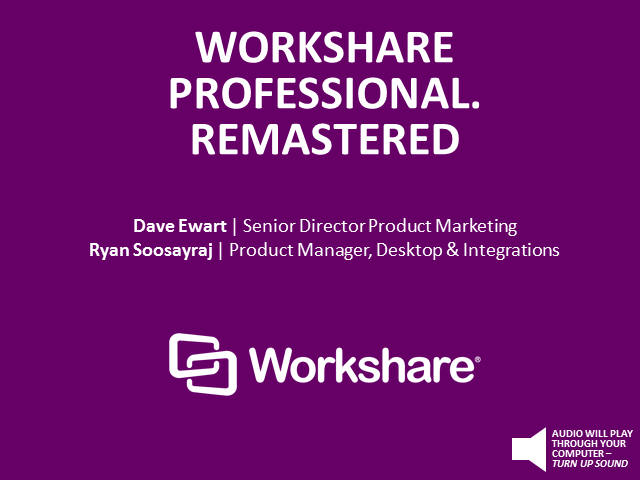Workshare Professional. Remastered.
