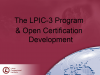 "LPIC-3 and ""Open"" Certification Development"