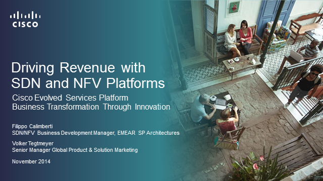 Driving Revenue with SDN and NFV Platforms