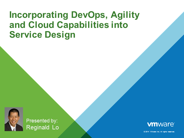 Incorporating DevOps, Agility and Cloud capabilities into Service Design