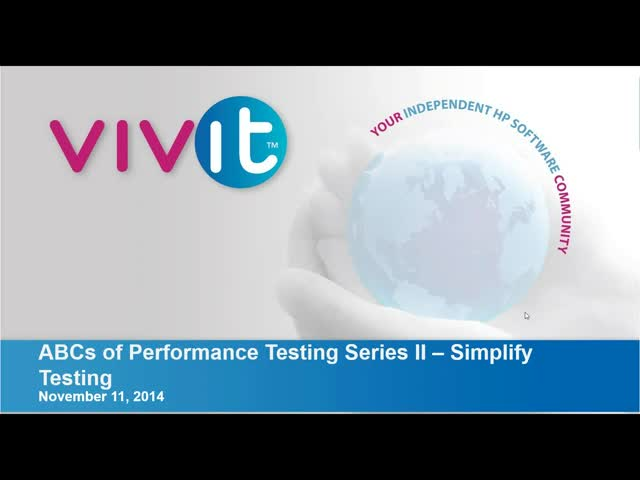 ABCs of Performance Testing Series II – Simplify Testing