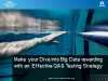 Make your Dive into Big Data rewarding with an Effective QA and Testing Strategy
