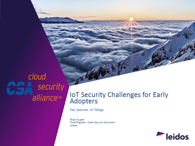 IoT Security Challenges for Early Adopters