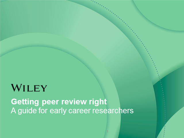 Getting peer review right: A guide for early career researchers