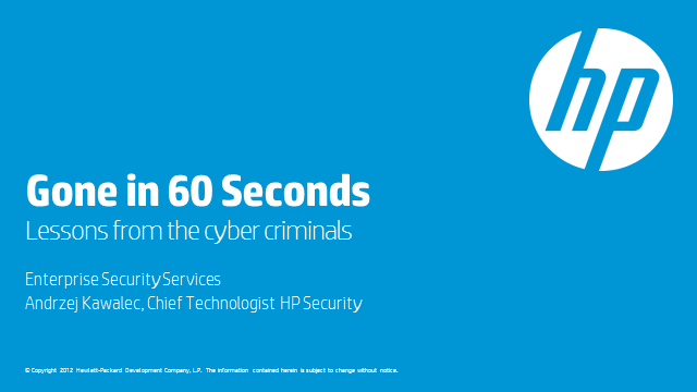 How to Steal $60m in 60 seconds: lessons from Cybercriminals