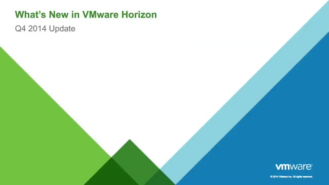Next Generation Workspace: What's New in VMware Horizon 6?