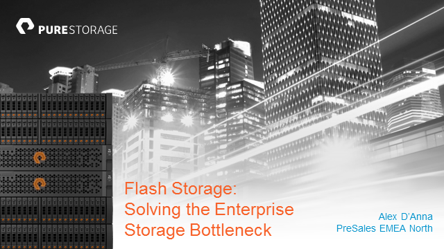 Flash Storage: Solving the Enterprise Storage Bottleneck?