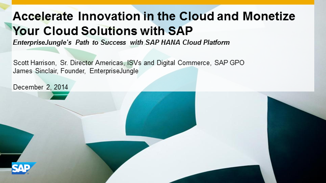 Innovate, Monetize, and Build New Apps & Revenue Channels as an SAP Partner