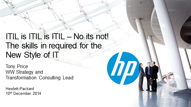 ITIL is ITIL is ITIL - No it's not!