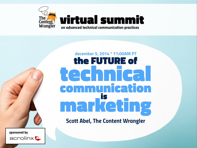 The Future of Technical Communication is Marketing