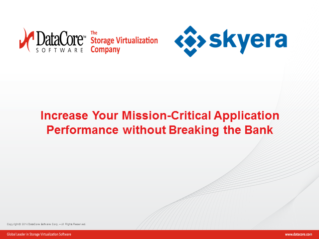 Increase Your Mission-Critical Application Performance Without Breaking the Bank