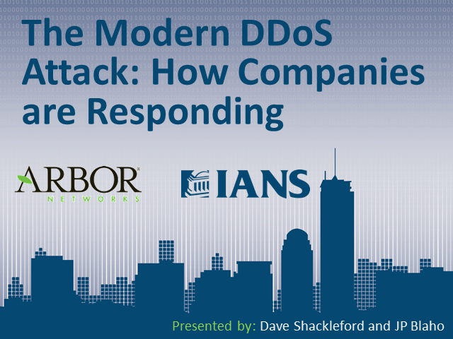 The Modern DDoS Attack:  Learn How Companies are Responding