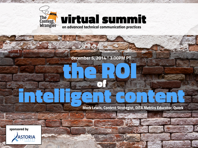 The ROI of Intelligent Content
