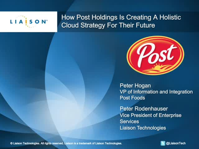 How Post Holdings Is Creating A Holistic Cloud Strategy For Their Future