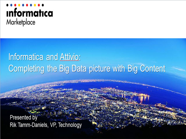 Tech Talk: Completing the Big Data picture with Big Content