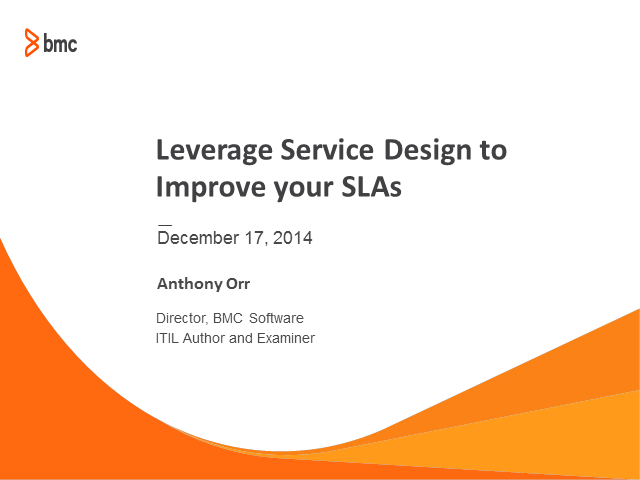 Leverage Service Design to Improve your SLAs
