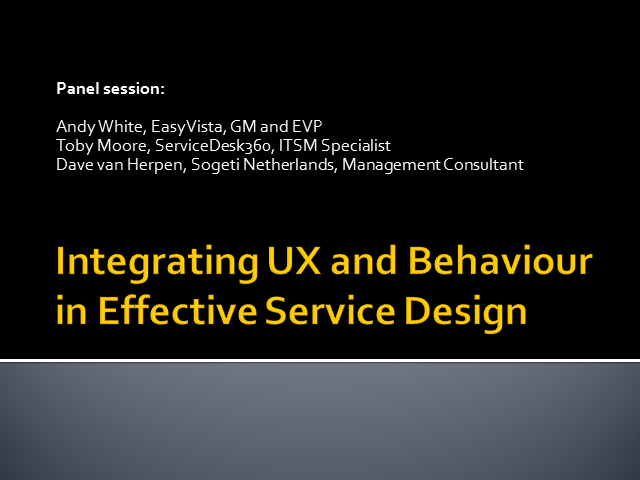 Integrating UX and behaviour in effective Service Design