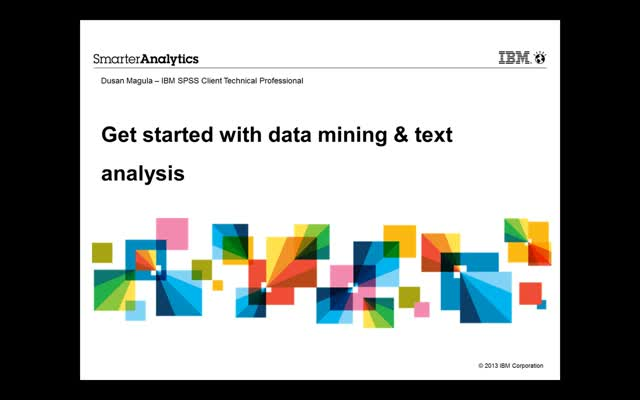 Get Started with Data Mining & Text Analytics