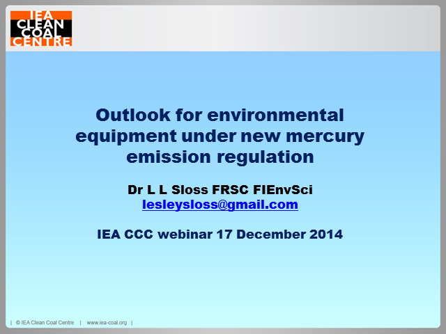 Outlook for environmental equipment under new mercury  emission regulations