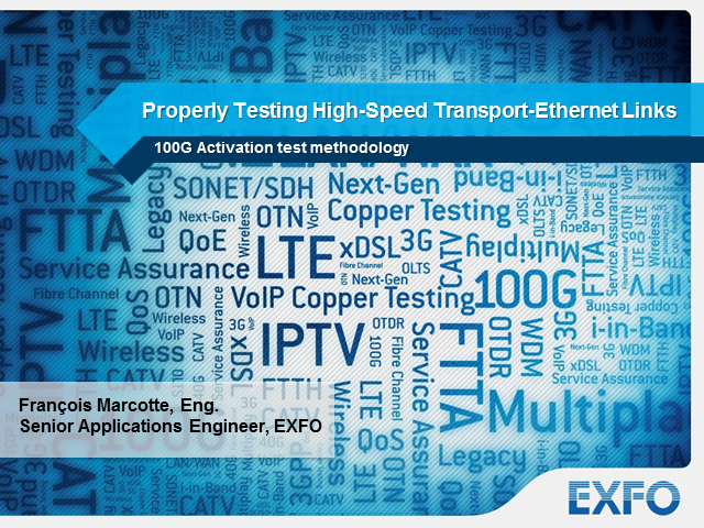 Properly testing high-speed Transport-Ethernet links during activation
