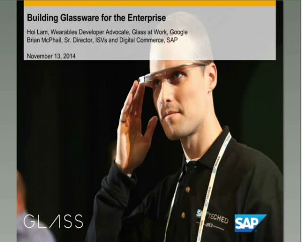 SAP and Google Glass: Building Glassware for the Enterprise