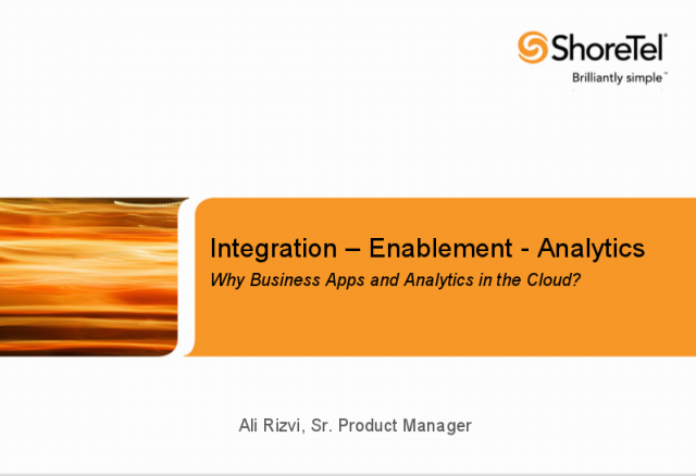 Why Business Apps and Analytics in the Cloud?