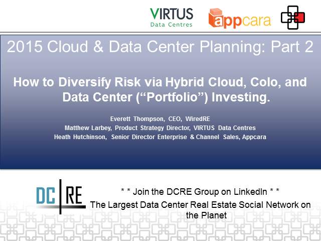 2015 Cloud & Data Center Planning; Part 2