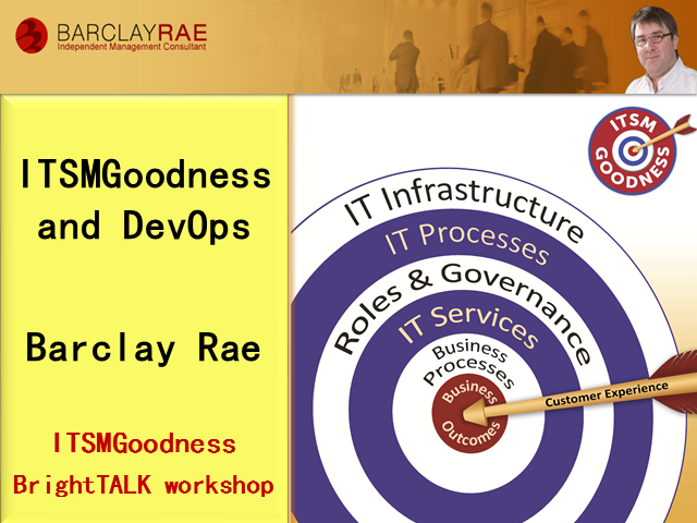 ITSM Goodness and DevOps - fast agile ITSM