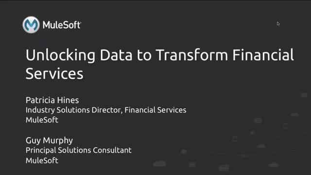 Unlocking Data to Transform Financial Services