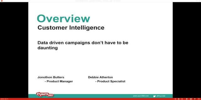 Customer Intelligence - data driven campaigns don't have to be daunting
