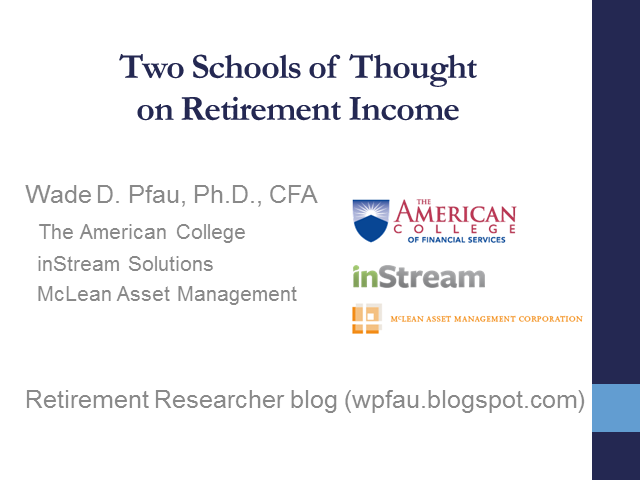 Two Schools of Thought on Retirement Income