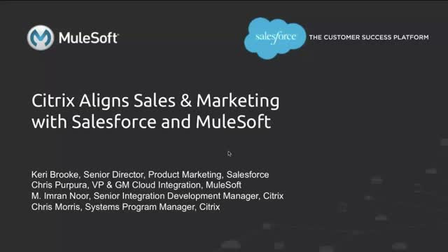 Integrating Sales & Marketing: Extending Salesforce at Citrix